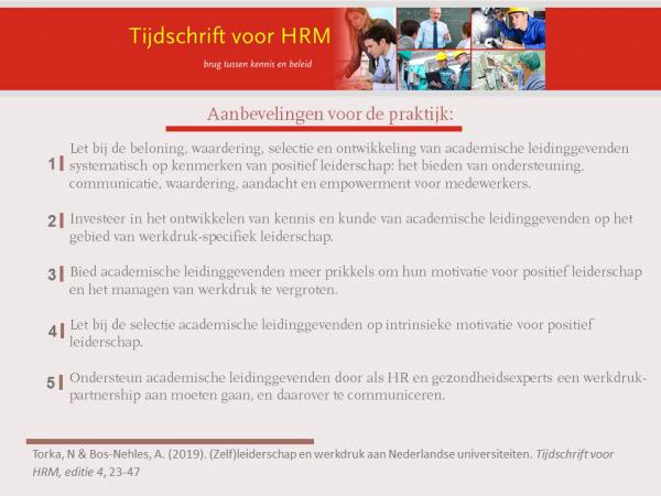 (Zelf)leiderschap en werkdruk aan Nederlandse universiteiten